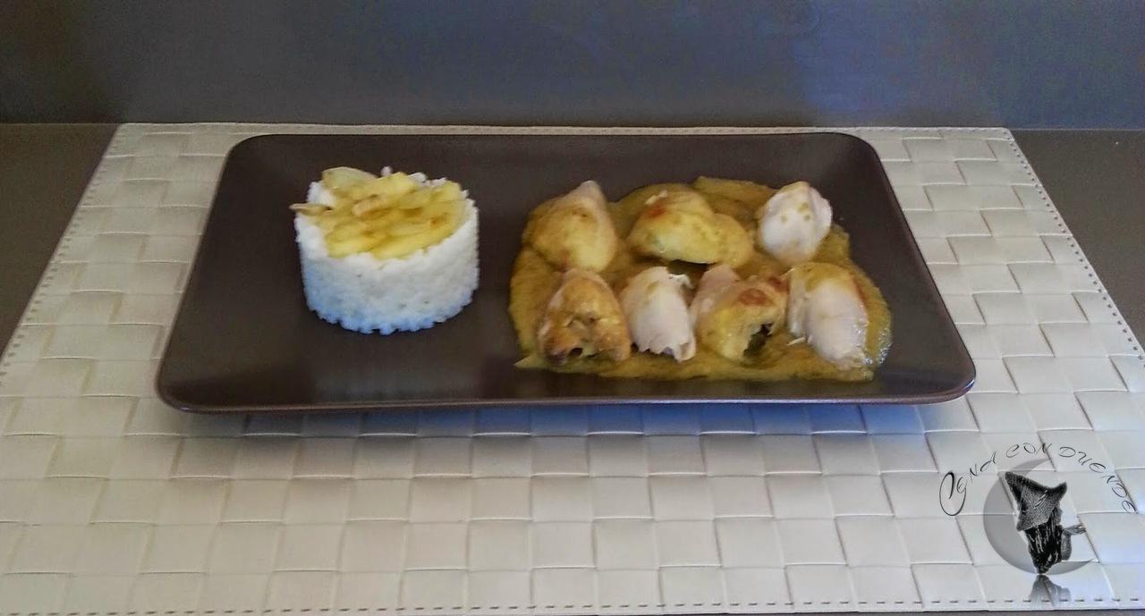 Muslos de pollo al curry, tapa Cena con Duende