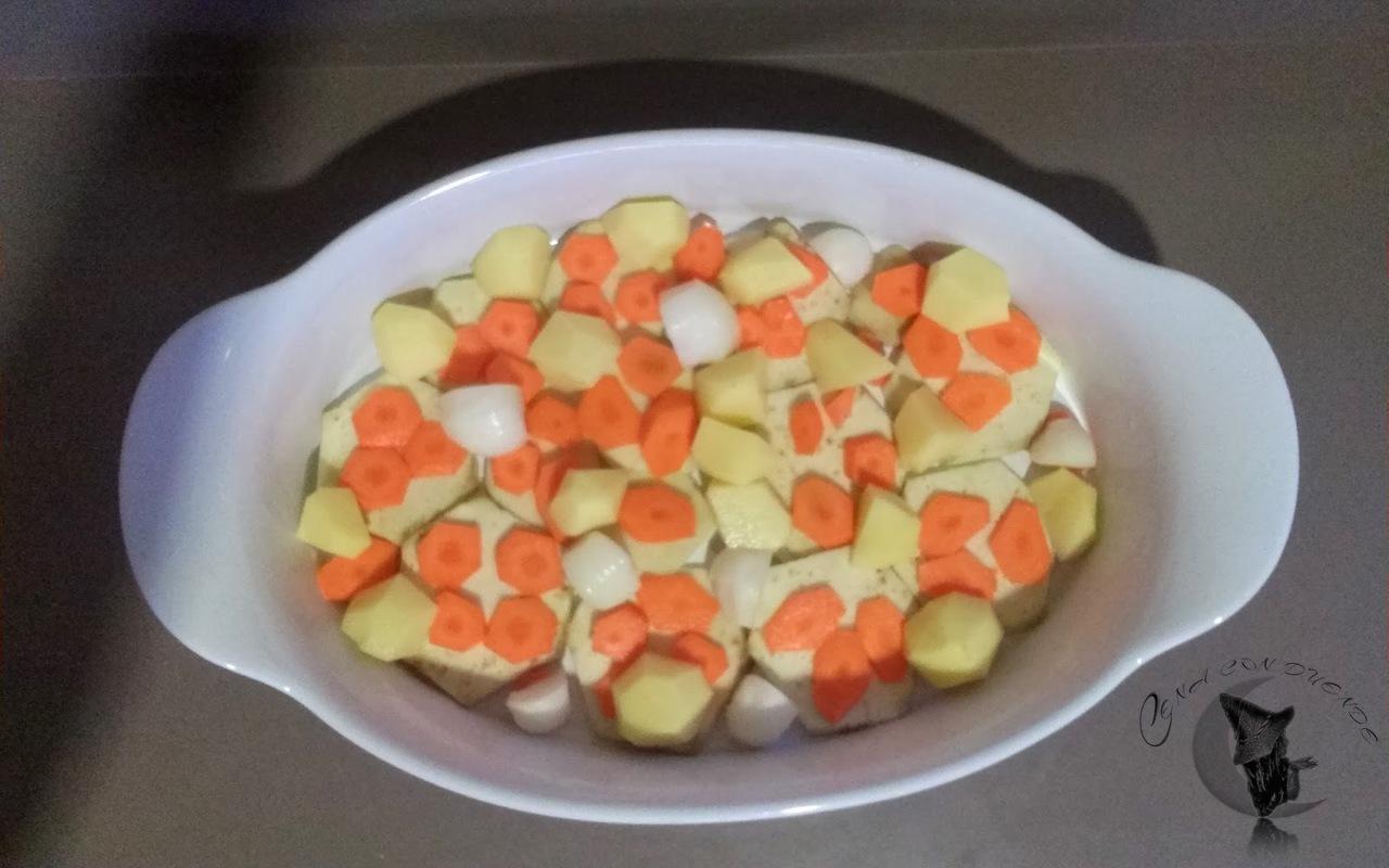 solomillo relleno de hummus con chorizo
