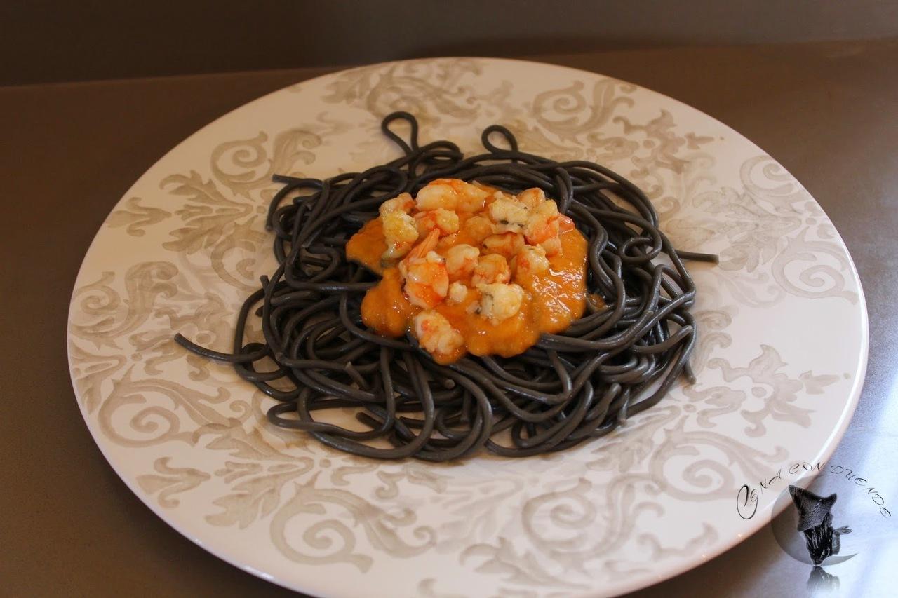 espaguetis de sepia