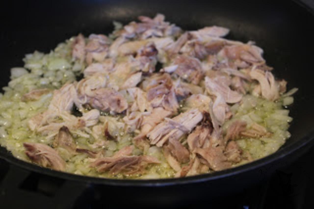 Risotto de bolutos y pollo