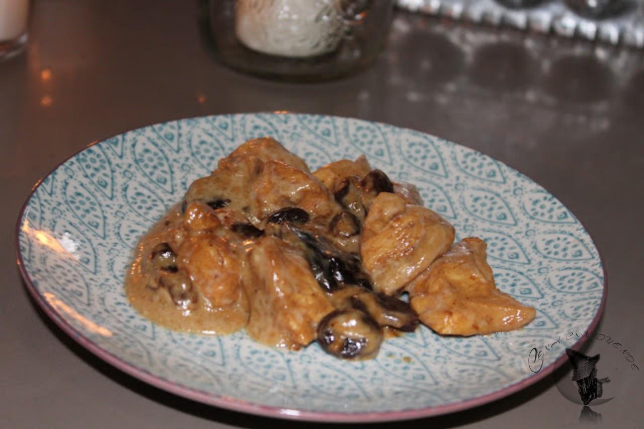 pollo en salsa de vino dulce