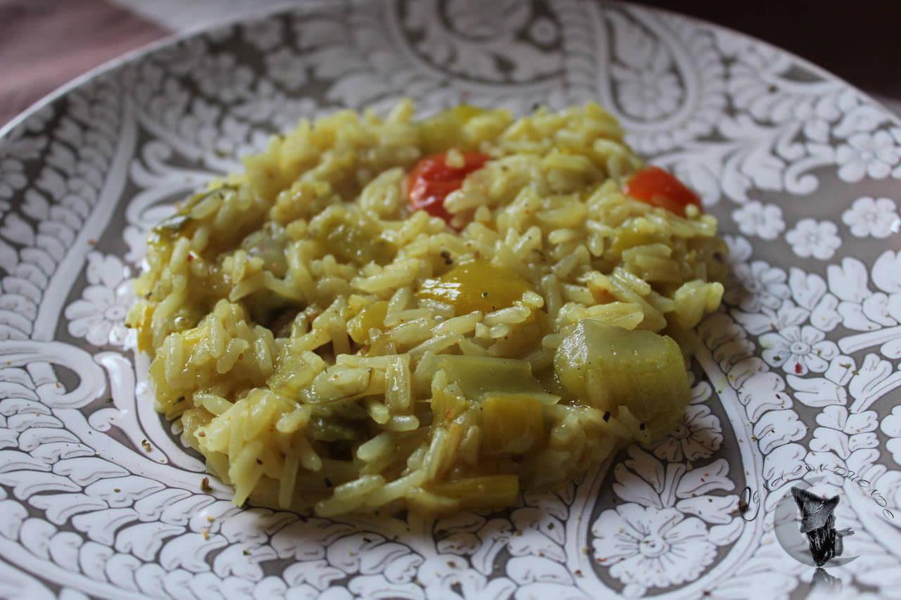 arroz con verduras al curry cena con duende