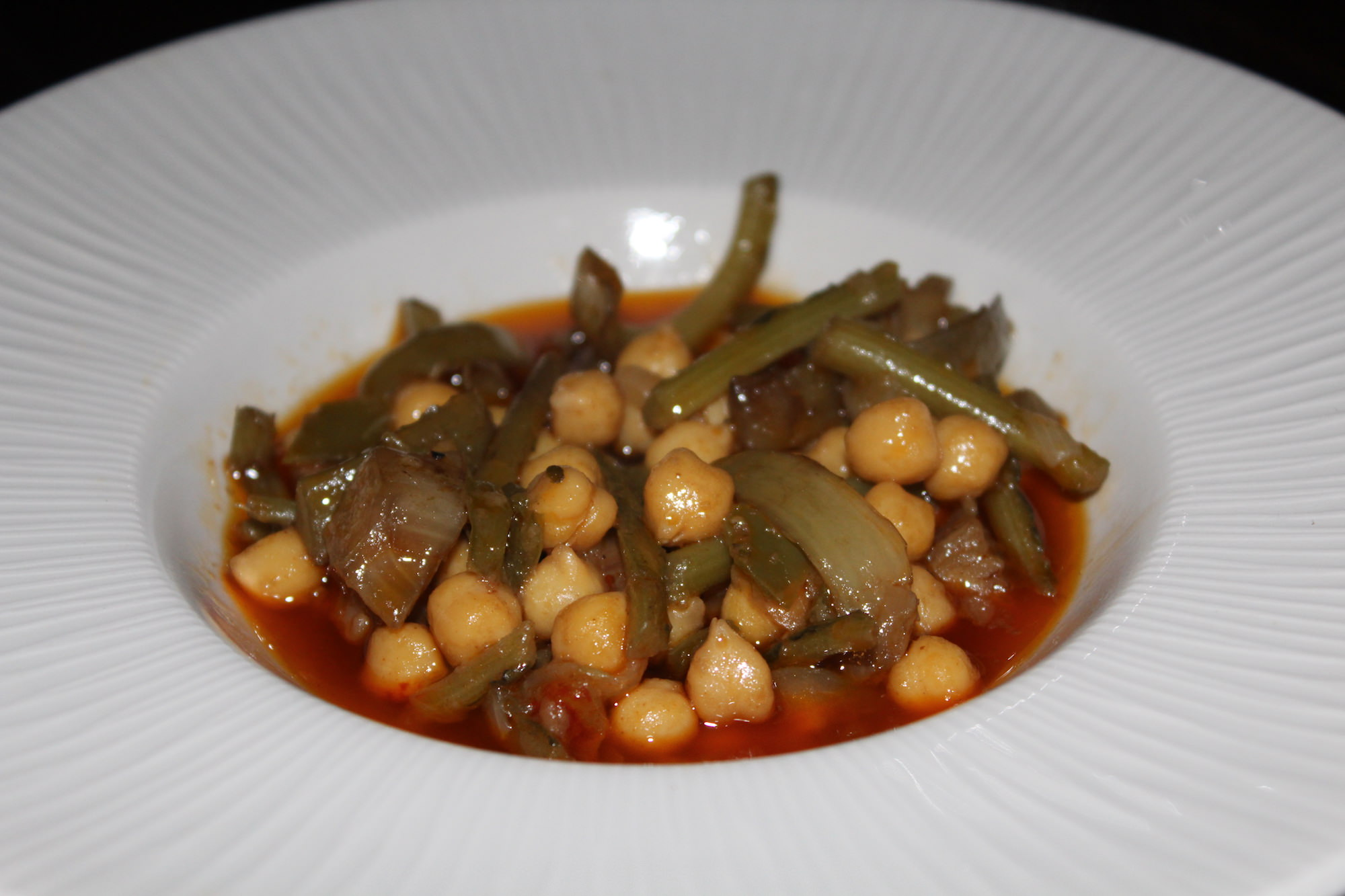 Garbanzos con Tagarninas
