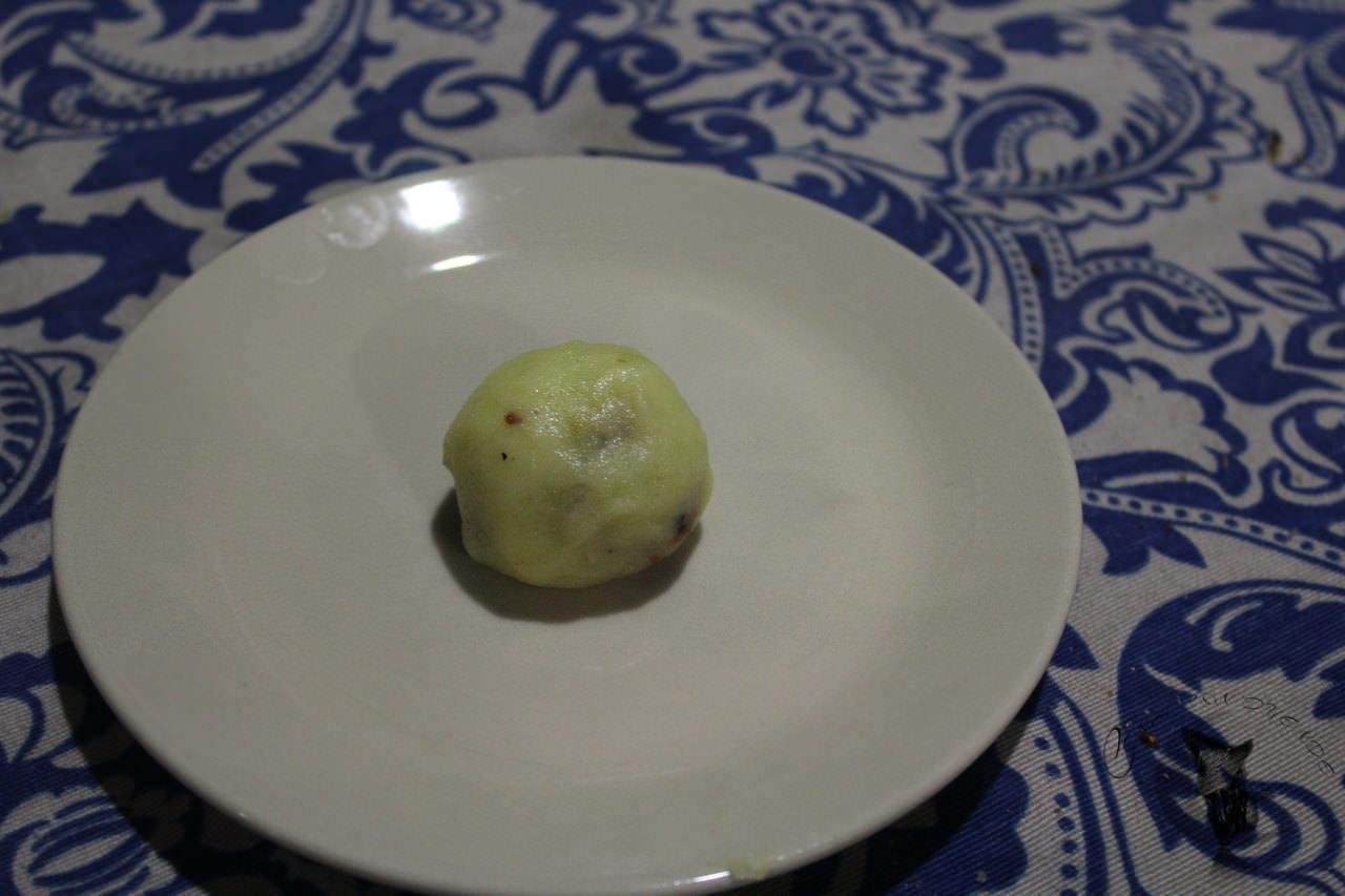 Albondigas de patatas y carne en salsa