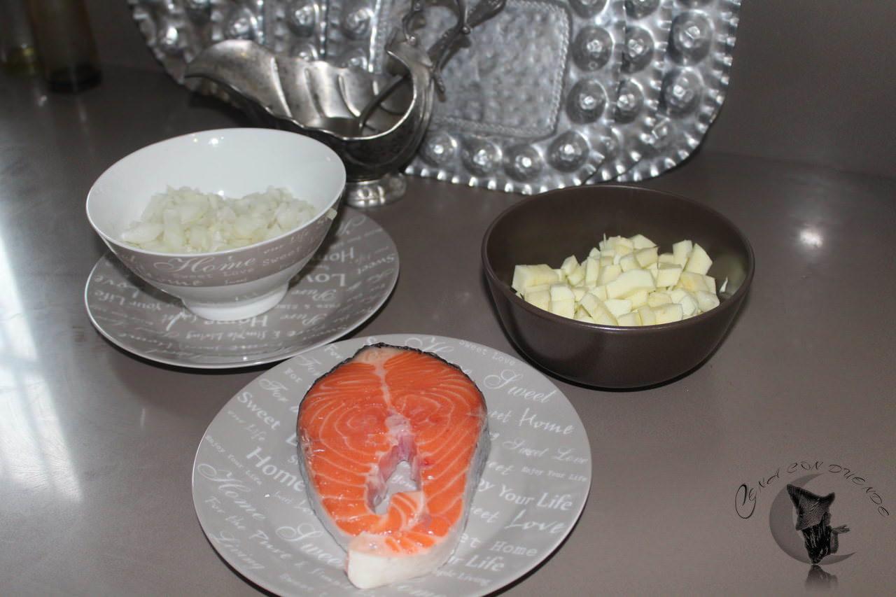 Quiche de salmón y calabacines