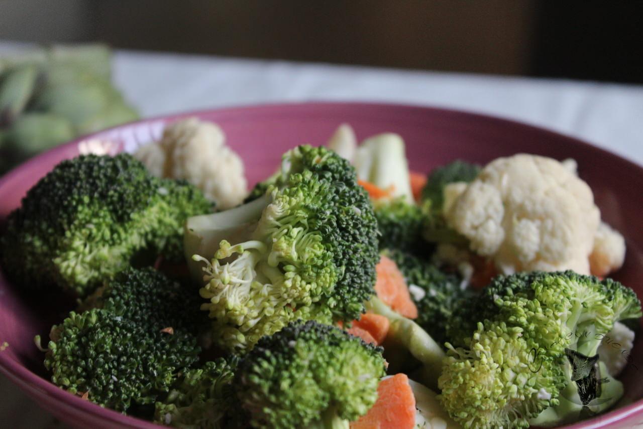 merluza con brocoli y coliflor