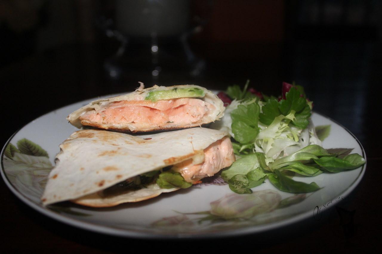 quesadilla de salmón