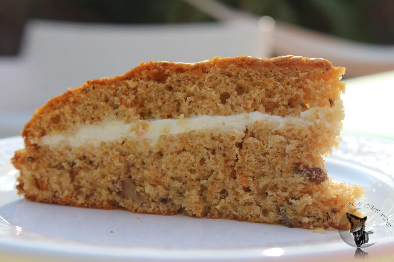 Tarta de Zanahoria con crema de Mascarpone al Limón