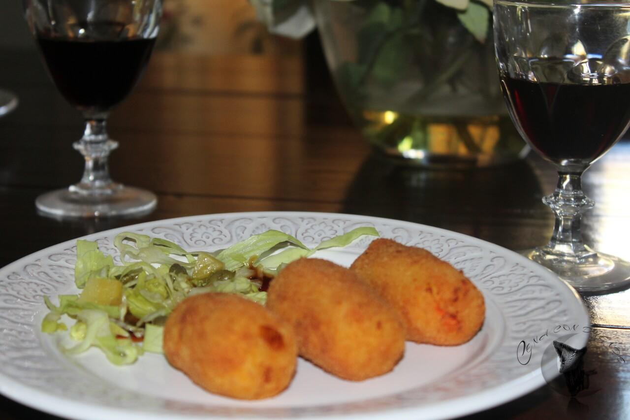Croquetas de Patatas, Zanahorias y Puerros.