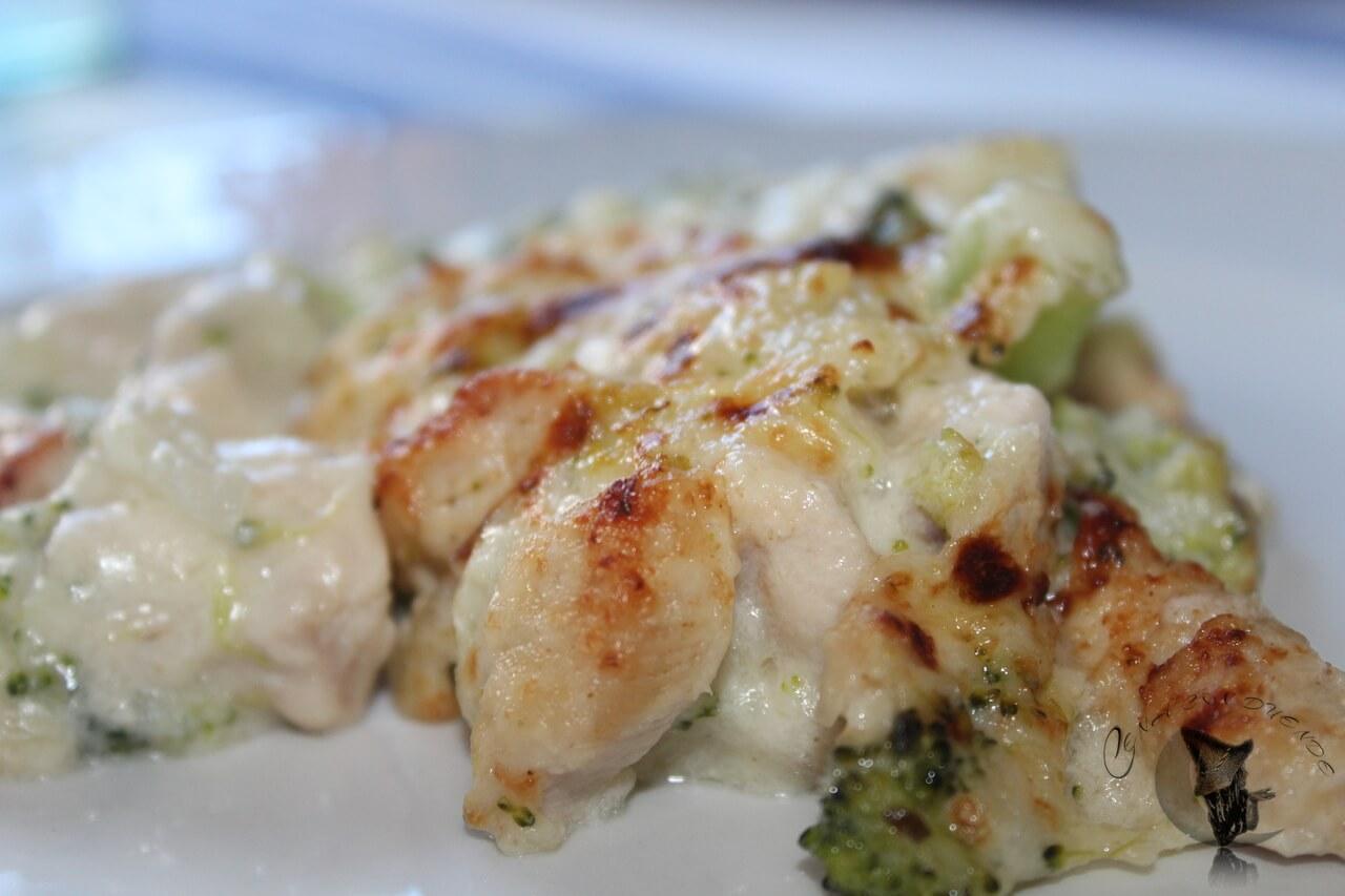 pollo brócolis y coliflor