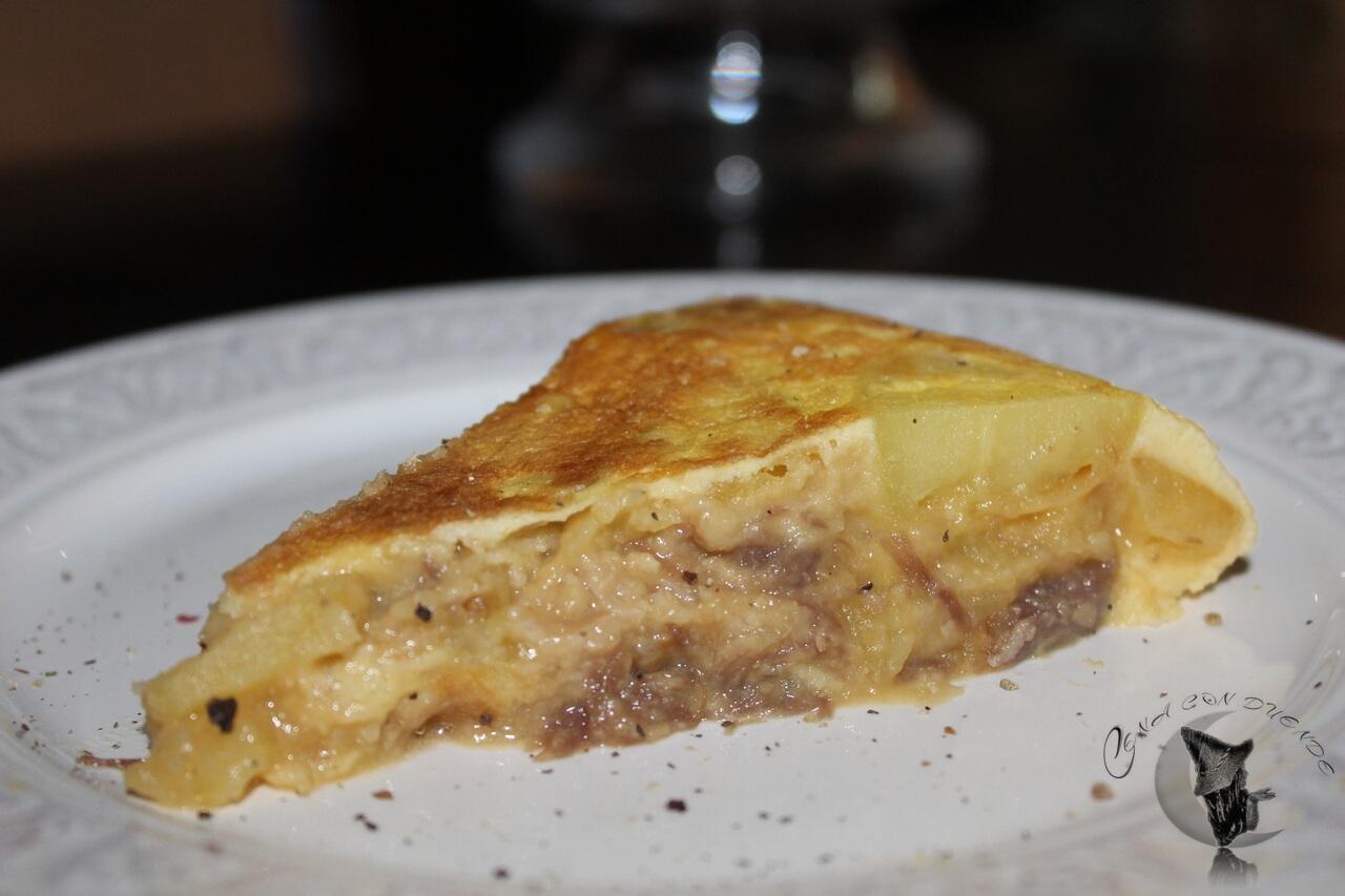 Tortilla rellena de Puchero.