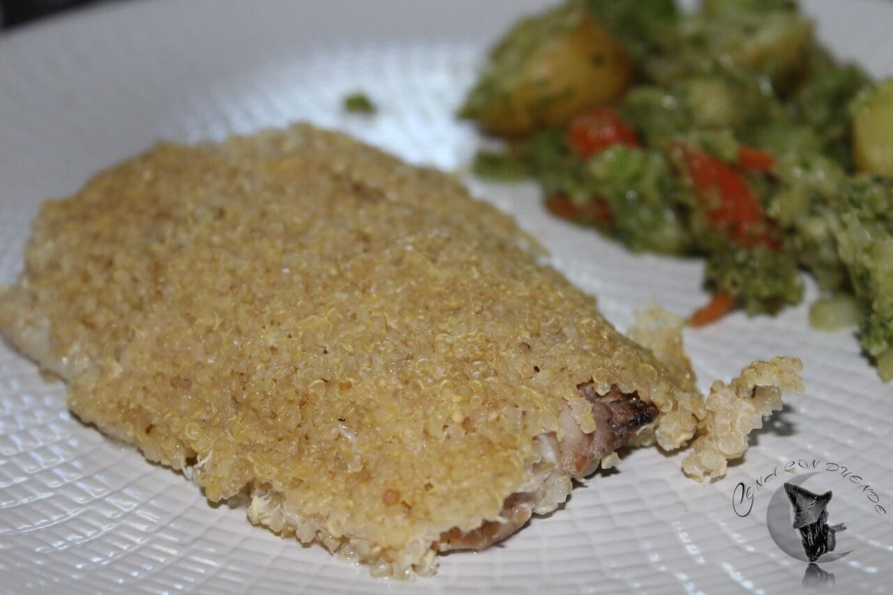 Corvina en costra de Quinoa