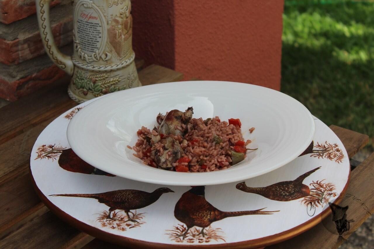 arroz al vino tinto rioja