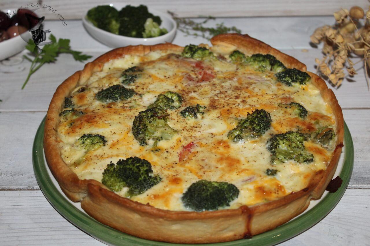 Quiche de ternera, brócoli y mozzarella.