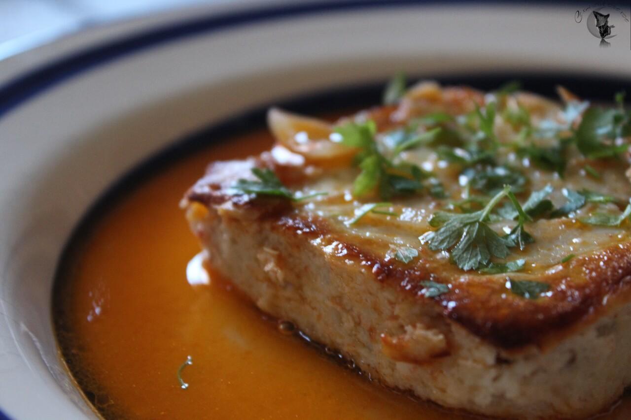 Pastel y sopa de Lubina.