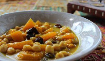 Calabaza con garbanzos al curry